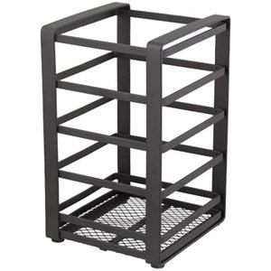 Industriële keukengerei opberger/ bestekhouder MONIEK - Zwart - Staal - 10 x 10 x 16.5 cm