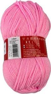 Garen acryl / Bolletje wol - Roze - 100 gr - Set van 2